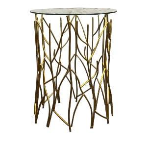 Foraged Gold Leaf Side Table