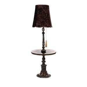 Victorian Black Velvet Lamp
