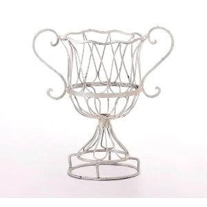 Wrought Iron Floral Urn Small