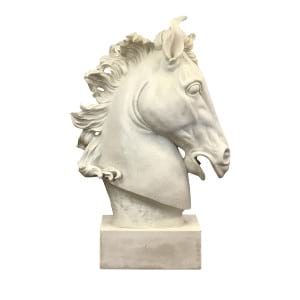 White Marble Horse Head Sculpture