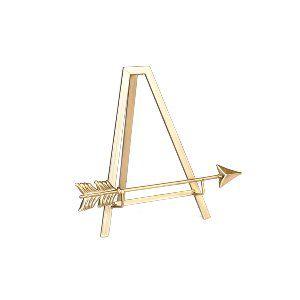 Gold Arrow Tabletop Easel