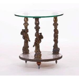 Three Cherub Side Table