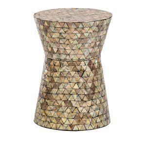 Blue and Grey Capiz Side Table