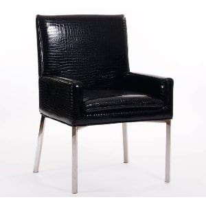 Signature Black Croc Side Chair