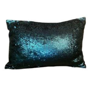 Blue Sequin Mermaid Pillow