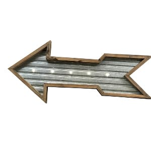 Galvanized Arrow Marquee Sign