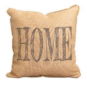 Burlap HOME Pillow