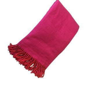 Pink + Orange Throw Blanket