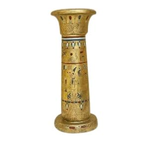 Egyptian Small Guilded Column