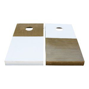 Gold+White Cornhole Set
