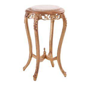 Gold + Marble Pedestal Side Table