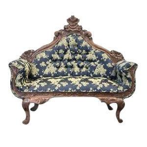 Ornate Blue Sofa