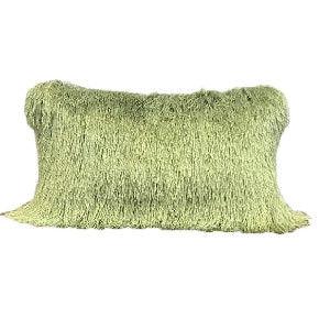 Green Fringe Pillow
