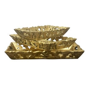 Gold Leaf Tray Set