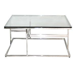 Chrome Glass Top Coffee Table
