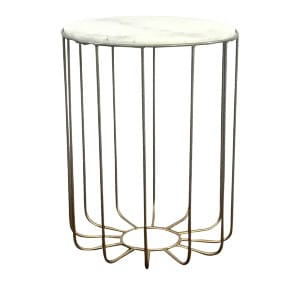 Marble & Wire Side Table