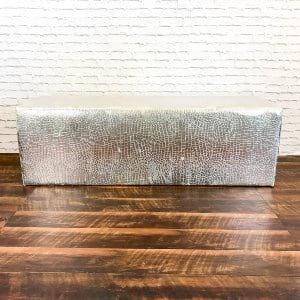 Silver Croc Whisper Bench