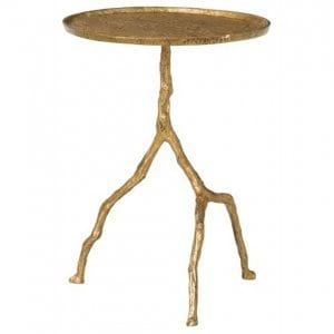 Forest Park Gold Side Table