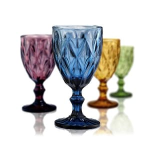 Colored Water Goblet