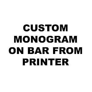 Custom Monogram on Bar