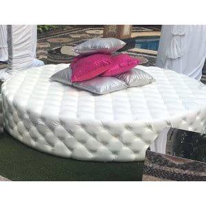 Oversized White Ottoman