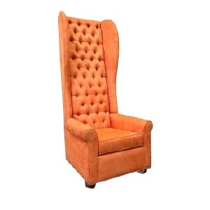 Orange High Back Chair