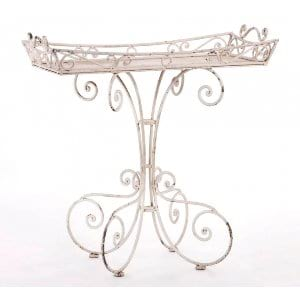 Garden Rod Iron Tray Stand