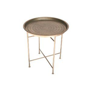 Moroccan Brass End Table