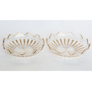 Glass Gold Trim Ash Trays