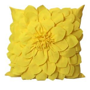 Yellow Flower Pillow