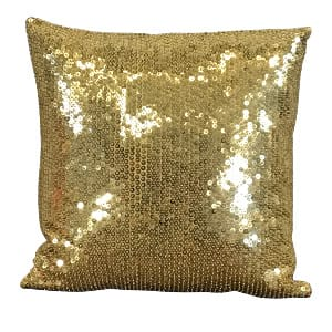 Gold Beaded Sequin Pillow