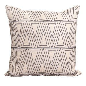 Natural+Black Geometric Pillow