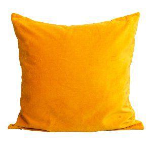 Bright Yellow Velvet Pillow