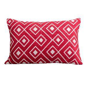 Red Diamond Lumbar Pillow