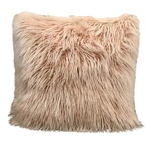 Blush Furry Pillow