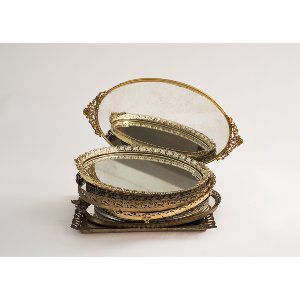 Mirrored Vanity Trays