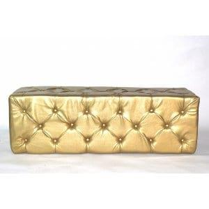Gold Tufted Whisper Bench