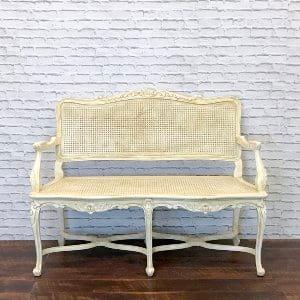 Antoinette Cane Love Seat