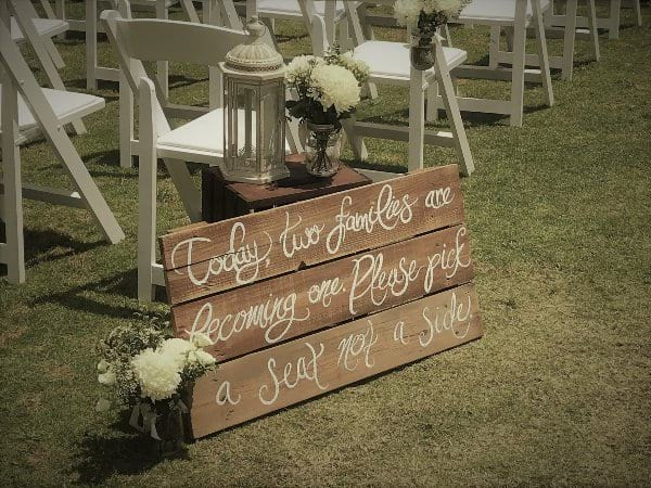 Ceremony Wooden Sign