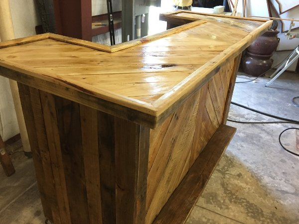 Natural Wood Custom Bar