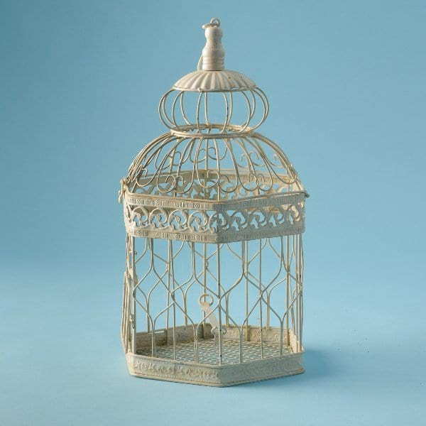 Ivory Hexagon Bird Cage