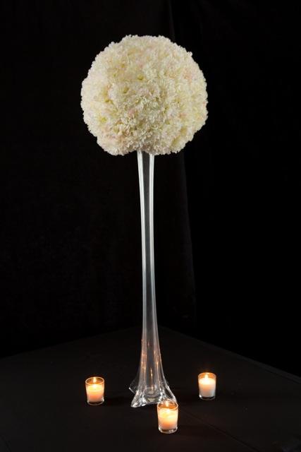 Tall Clear or White Slender Vase