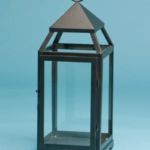 "14"" Black Prism Lantern"