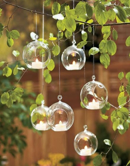 Clear Hanging Globes
