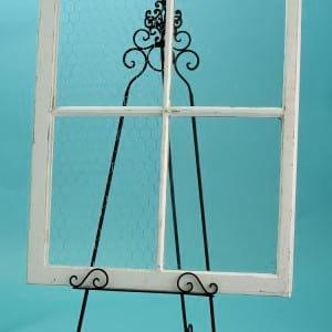 White Four Pane Window Frame