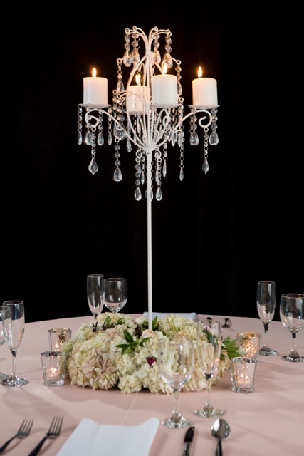 White Crystal Centerpiece