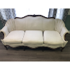 White with Brown Trim Couch
