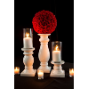 Set of 3 White Candlestick