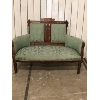 Vintage Green Love Seat
