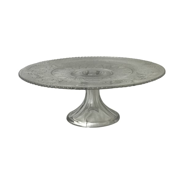Clear Pressed Glass Cake Stand #5
